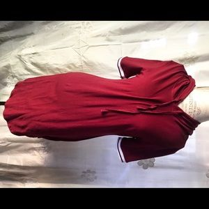 Forever 21/Love J sporty maroon tshirt mini dress